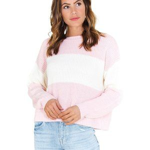 Sancturary NWT Billie Colorblock Shaker Sweater